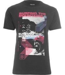 t-shirt masculina color photos- preto