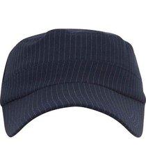 gorra tipo militar con rayas correa ajustable para hombre 93014