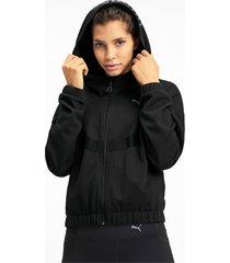 hit feel it knitted trainingssweatjack voor dames, zwart, maat xl   puma