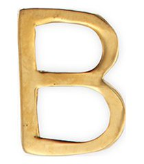 18k yellow gold letter charm - b