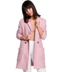 vest be b120 fit en flare midi jurk - roze