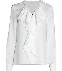 davis ruffle blouse