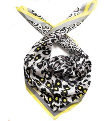 vince camuto patched animal silk square scarf