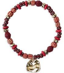 akola women's brave 10k goldplated & multi-stone stretch charm bracelet