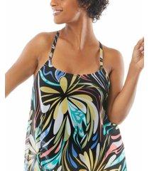 coco reef current mesh bra-sized tankini top women's swimsuit