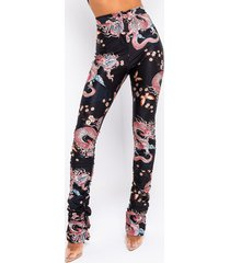akira out of office dragon printed stacked legging