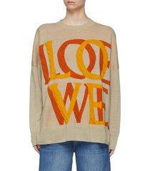loewe love jacquard sweater