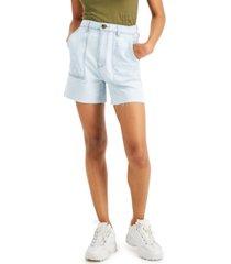 tinseltown juniors' patch-pocket denim shorts