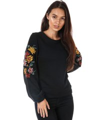 womens anna embroidered crew sweatshirt