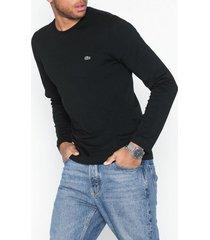 lacoste t-shirt ras du cou manc tröjor black