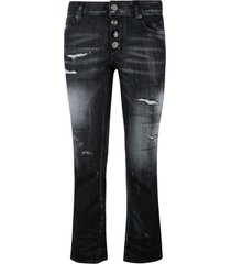 dsquared2 destroyed effect flared jeans