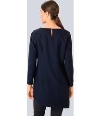 blus alba moda marinblå