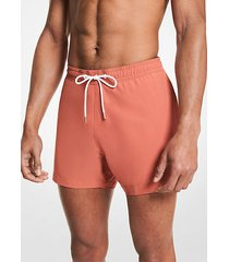 mk shorts da mare in tessuto - terracotta - michael kors