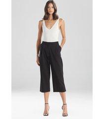 natori stretch cotton blend crop pants, women's, size 12