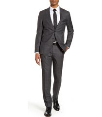 men's boss novan/ben slim fit plaid wool suit