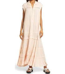 women's free people pretty cozy maxi dress, size small - ivory