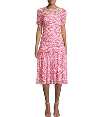 vonne floral drop-waist dress