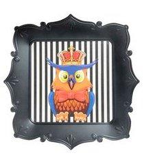bandeja decor coruja cor: preto - tamanho: único