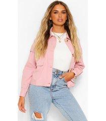 mock horn button utility jacket, dusky pink