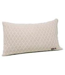 capa de almofada tricot 60x40 c/zíper sofa cod 354.8 bege
