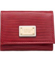carteira couro rubi corello carteiras vermelho