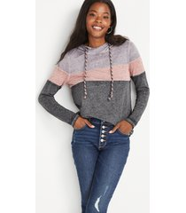 maurices womens gray colorblock hoodie