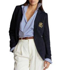 chaqueta double-knit jacquard azul polo ralph lauren