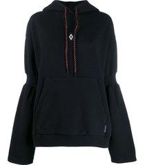 marcelo burlon county of milan cross over hoodie - black