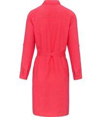 jurk van 100% linnen met doorknoopsluiting van brax feel good roze