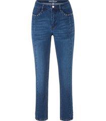 jeans skinny cropped ultra elasticizzati (blu) - john baner jeanswear