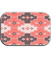 tapete decorativo lar doce lar formas 40cm x 60cm rosa - rosa - dafiti