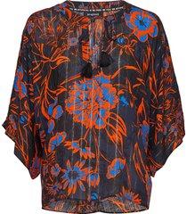 blus siena blouse lange mouwen multi/patroon desigual