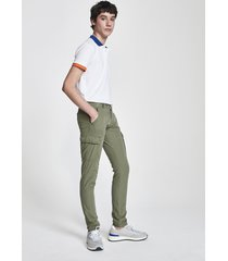 pantaloni cargo in popeline