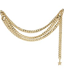 lucky charm 14k gold plated double chain belt
