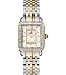 women's michele deco ii mid diamond watch head & bracelet, 26mm