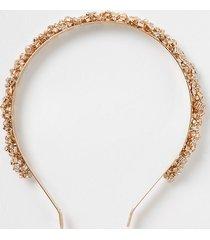 river island womens gold tone cupchain wrapped headband