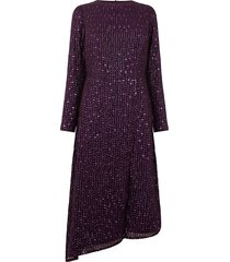 sequin asymmetric midi dress