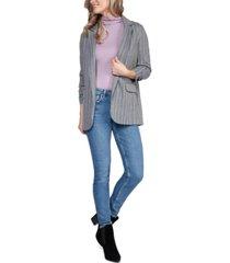 black tape ruched-sleeve open blazer, in regular & petite