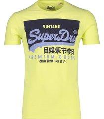 lichtgeel t-shirt opdruk superdry vintage