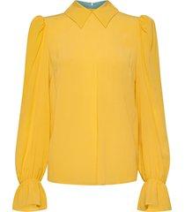 nicole blus långärmad gul custommade