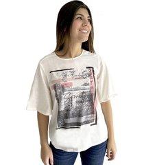 camiseta estampada para mujer 100482-00
