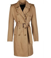 givenchy camel-tone cotton trench coat