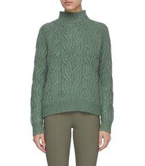 twist chain turtleneck sweater