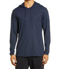 men's anetik low pro tech hoodie, size small - blue