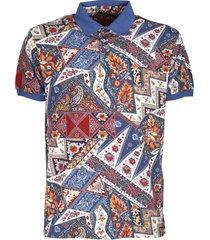 etro cotton pique polo shirt