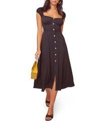 women's astr the label bonjour button front dress