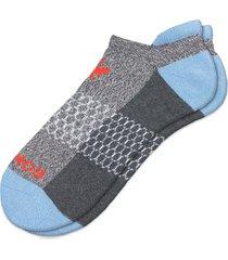 men's bombas multicolor ankle socks, size large - blue