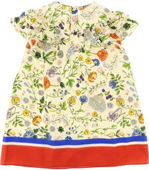 gucci dress with flora festival print
