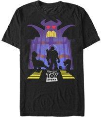 disney men's toy story beware emperor zurg, short sleeve t-shirt