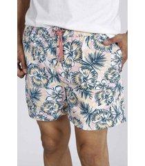 pantaloneta plana y estampado de flores